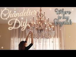 diy crystal chandelier baroque inspired house