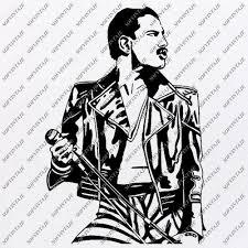 Freddie mercury   free svg image in public domain. Products Tagged Freddie Mercury Svg File Page 2 Sofvintaje