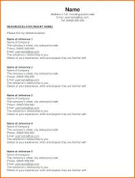 Reference List For Resume Template How To List Personal References On Resume