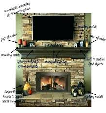 fireplace mantel height with above on dumound decorating a tv over he