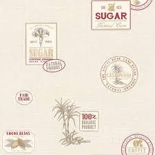 rasch coffee sugar kitchen wallpaper 853612 red