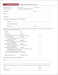 Wedding Photography Contract Template Word Beautiful Simple