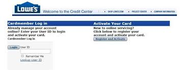 Www Lowes Com Activate Lowes Credit Card Login And Registration