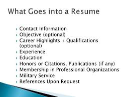 Download What Goes On A Resume
