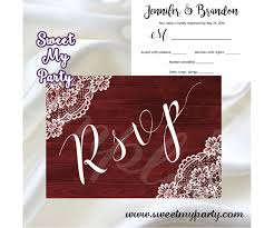 Rustic Wedding Rsvp Card Vintage Lace Wedding Rsvp Card 017w