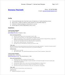 Instructional Designer Resume Beauteous 48 Designer Resumes Free Sample Example Format Free Premium
