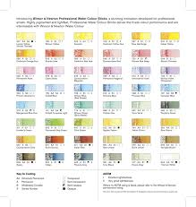 See The Colour Chart For The New Winsor Newton Professional
