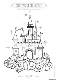 Coloriage Le Chateau De Princesse Dessin Coloriage A Imprimer Chateau De Princesse L