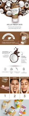I love the coconut & coffee extracts that are used to pamper and soften my skin. St Ives Energizing Coconut Coffee Scrub Buy St Ives Energizing Coconut Coffee Scrub Online At Best Price In India Nykaaman