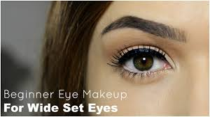 beginner eye makeup for wide set eye