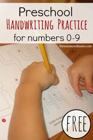 Free handwriting pages for writing numbers - 3 levels! - The ...