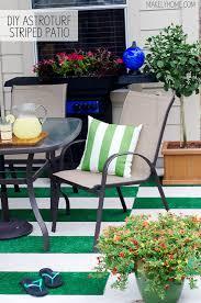 diy astroturf striped patio rug