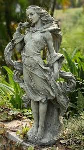 lady statue home garden yard sculpture