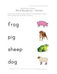 word recognition worksheet animals | aaron | Pinterest ...