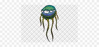 Hand-drawn Cartoon Alien Jellyfish By Aaron Goodson - Illustration - Free  Transparent PNG Clipart Images Download