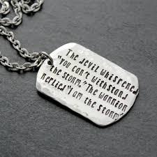 warrior necklace i am the storm gym jewelry warrior necklace