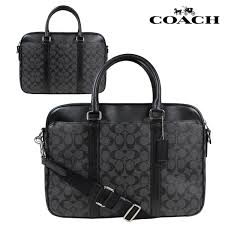 coach coach men s bag business bag briefcase f54803 charcoal black