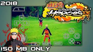 150mb naruto shippudun ultimate ninja heroes psp game highly pressed for android hindi