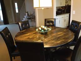 rustic round dining table. Diy Distressed Kitchen Table Rustic Round Dining L