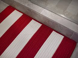 striped rug red and white photo page