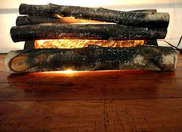 vintage fireplace logs fire place insert faux by