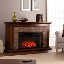 utley 60 inch simulated stone electric fireplace