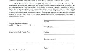 Notarized Letter Of Guardianship Guardianship Letter Template
