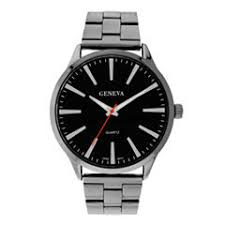 geneva men s watches for jewelry watches jcpenney mens geneva gunmetal round dial watch 33572
