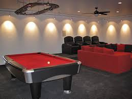 garage track lighting. perfect track modern man caves designs  griotu0027s garage red pool table with overhead  in track lighting e