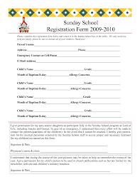printable vbs registration form template conference sunday school registration form 2009 2010