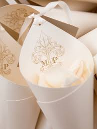 How To Make Paper Cones For Flower Petals 22 Wedding Ideas For Incorporating A Custom Monogram Flowers