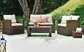 brown set patio source outdoor. Interior: Patio Conversation Sets Outdoor Lounge Furniture The Home Depot With Regard To Brown Set Source G