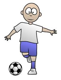 playing cartoon drawing a soccer cartoon player
