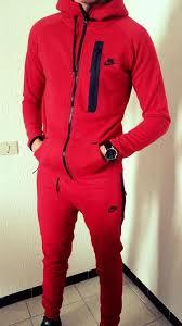 nike jogging suits. jumpsuit: nike, red, black, menswear, beautiful, jogging set, nike suit - wheretoget suits s