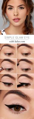 simple glam eye makeup for brides via