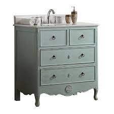 Modetti Mod081lb 34 Provence 34 Inch Single Bathroom Vanity Set In Light Blue