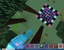 stained glass by minecraft house underwater