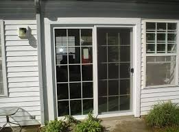 2 panel sliding glass patio doors raised