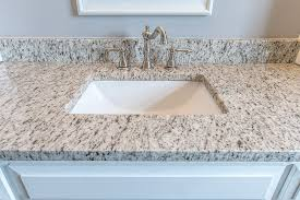 verona granite vanity top with square bowl white sink and faucet with nickel finish