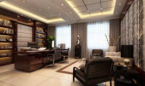 simple luxury home office design with nice wall art