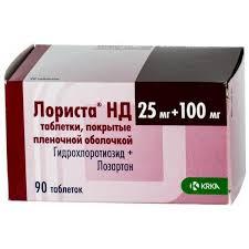 Купить <b>Лориста НД</b> 25мг+<b>100мг</b> таблетки покрытые пленочной ...