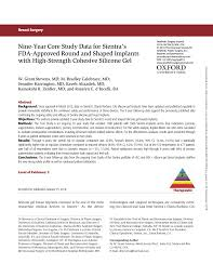 Pdf Nine Year Core Study Data For Sientras Fda Approved