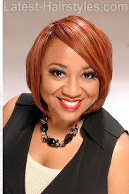 copper bob weave hairstyle