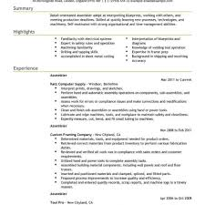 Mechanical Assembler Resume Examples throughout Electrical Assembler Resume