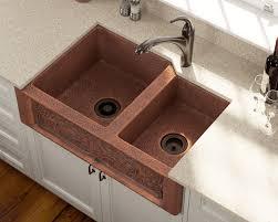 911 offset double bowl copper apron sink 486 21 reviews double basin farmhouse sink c52