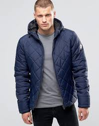 Blend | Blend Hooded Quilted Jacket Navy &  Adamdwight.com
