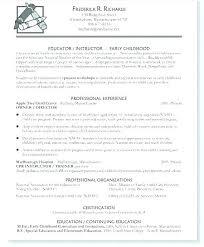 Sample Resume Preschool Teacher Resume Template Directory