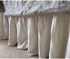 linen bedskirt king. Wonderful King Ivory Cream Bedskirt Linen Bed Skirt Natural Ruffles  Dust On Bedskirt King U