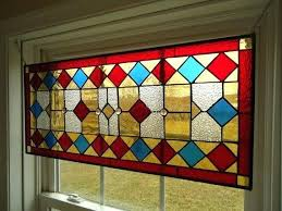 stained glass transom window panel by leaded windows vintage
