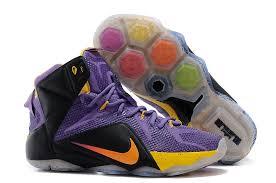 lebron purple shoes. newest lebron james 12 nike purple black yellow basketball shoes
